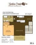 1 bedroom / 1 bath Lower
